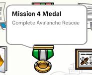 Mission 4 medal stamp book