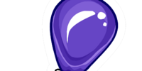 Purple Balloon Pin