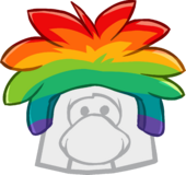 Rainbow Puffle Cap icon