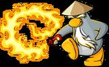 Sensei with hot sauce fire