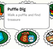 Puffle dig stamp book