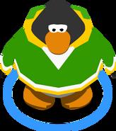 Green Crosshatched Hoodie IG