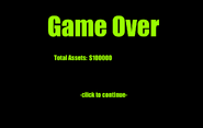 Beta Team Space Trader Game Over Screen