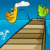Dock Jumping Background photo