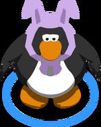 Lavendar Bunny Ears in-game
