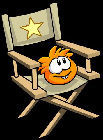 File:Orange PuffleChair.png