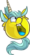 Yellow Unicorn Puffle PH Player Card