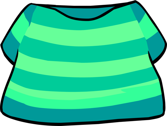 File:Aqua Striped Shirt clothing icon ID 4262.png
