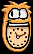Orange Puffle Clock No background