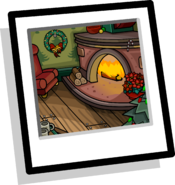 Cozy Fireplace Background icon
