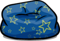 Custom Furniture (Blue Beanbag Chair with Stars)