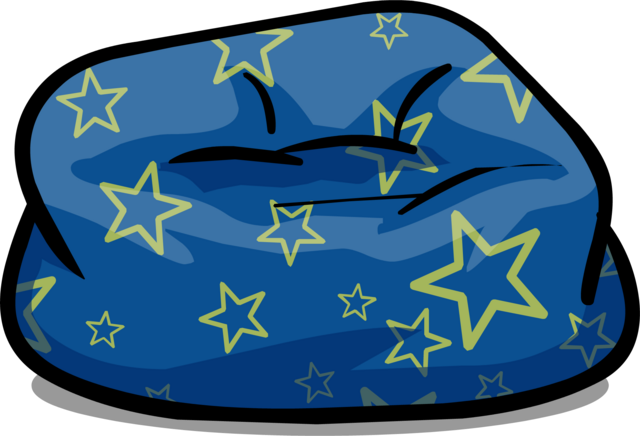 File:Custom Furniture (Blue Beanbag Chair with Stars).PNG