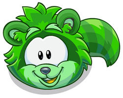 Puffle Mapache Verde.png