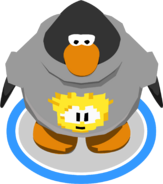 Gold Pixel Puffle Tee in-game