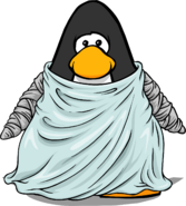 Lady Frankenpenguin's Dress on a Player Card
