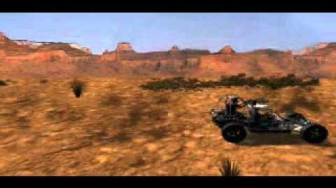 C&C Tiberian Dawn - Tanks Moving into a Desert Town