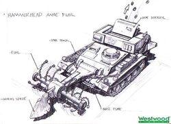 RA2 Hammerhead Mine Flail Concept