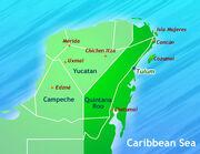 Tulum in yucatan peninsula