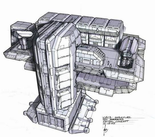 File:CNCTW Barracks Concept Art.png