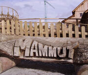 Mammut (Erlebnispark Tripsdrill) logo on bridge