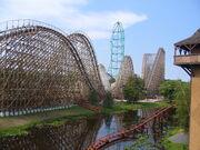 El Toro (Six Flags Great Adventure) landscape