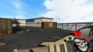 Black Skull Guitar Gun front skull
