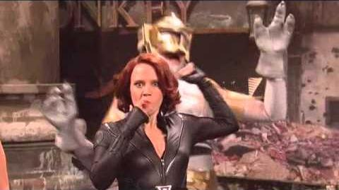 Jeremy Renner as HAWKEYE The Avengers Saturday Night Live Skit part 6 9