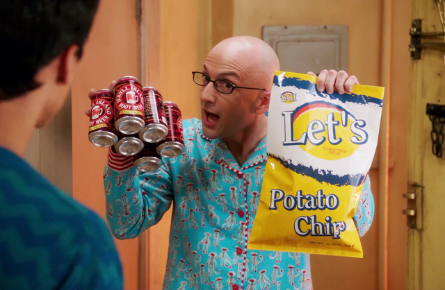 File:Dean Pelton rootbeer and Let's.png