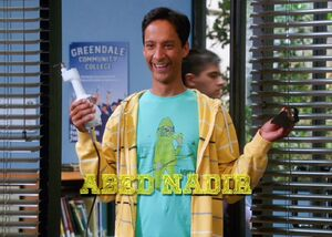 Abed removes goatee