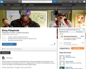 Elroy's LinkedIn profile page