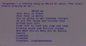 Crowlene lyrics