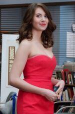 Evil Annie red dress