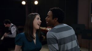 Troy and Annie singing