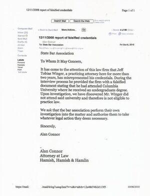 Alan's e-mail