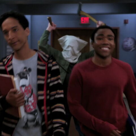 Troy and Abed get axe mur-dered!