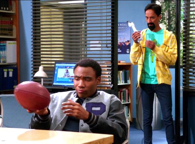 File:Evil Abed with his bone saw meets Troy and his letterman jacket.jpg