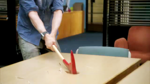Jeff tries to kill the study table