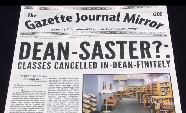 Gazette Journal Mirror headline