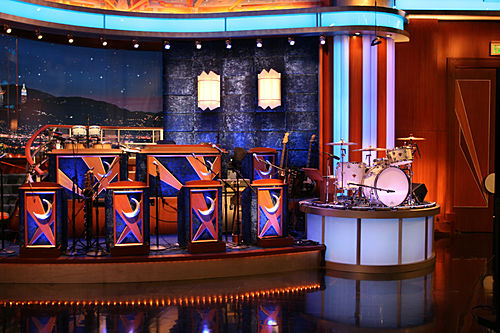 Tonight Show Set And The Tonight Show Band