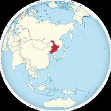 Map of Manchuria