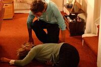 Gail down stairs