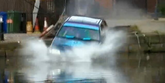 File:David drives into the canal.jpg