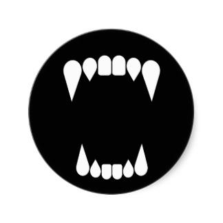 Vampire Fangs Silhouette | Silhouette of Vampire Fangs