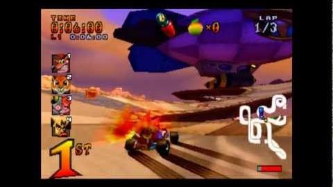 Hot Air Skyway - CTR Challenge - Crash Team Racing - 101% Playthrough (Part 40)