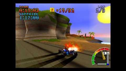 Crash Cove - Platinum Relic - Crash Team Racing - 101% Playthrough (Part 42)