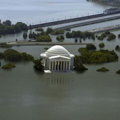 Not even the most expensive water barriers could protect Washington DC from a sea level 1.5m higher.
