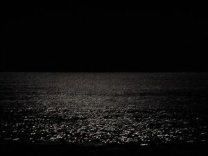Ocean at night