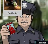 Ramirez with card