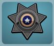 Black Police Badge male