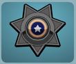 Black Police Badge